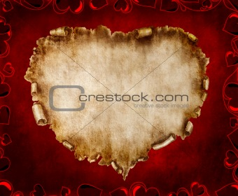 Beautiful Vintage Stylized Valentine Card