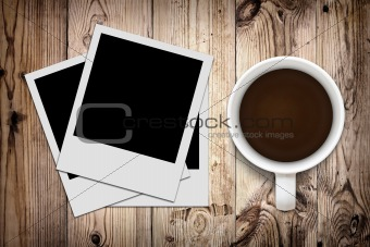 Blank photo and coffee