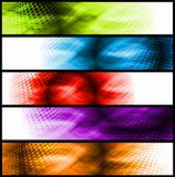 Vibrant abstract banners