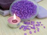 Aroma candle and bath salt
