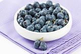 Blueberry in white bowl