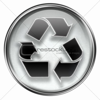 ecology symbol icon grey, isolated on white background.