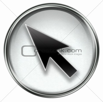 arrow icon grey, isolated on white background