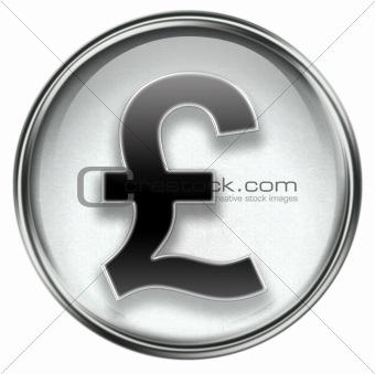 Pound icon grey