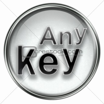 Any Key icon grey