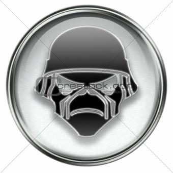 Army button grey