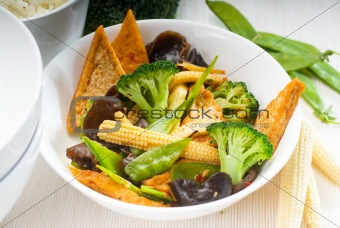 tofu bean curd and vegetables