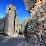 Narrow Tunnel on Needles Highway