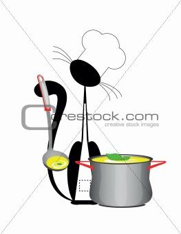cat cook