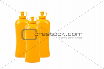 Group of Detergent bottle isolated on white background