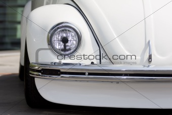 Old restored car headlight