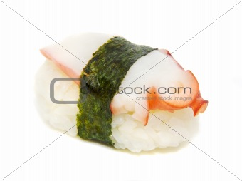 appetizing sushi isolated on the white background