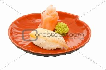 appetizing sushi isolated on the white background