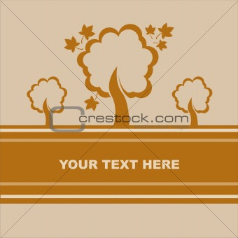 autumn trees card