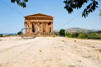 antique Temple of Concordia in Valley of the Temples