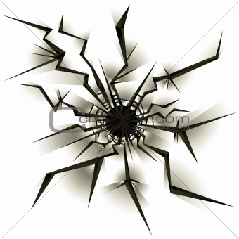 Bullet hole vector illustration.