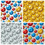 Colorful circles seamless patterns set.