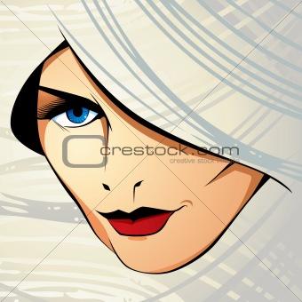 Attractive woman vector illustration.