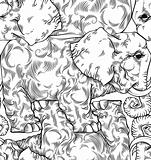 Elephants seamless pattern.