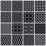 Metal seamless patterns set.