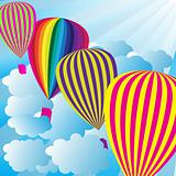 Summer Sky With Hot Air Balloons