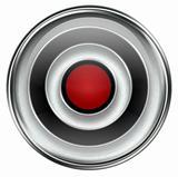 Record icon grey