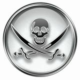 Pirate icon grey