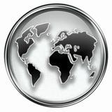 world icon grey