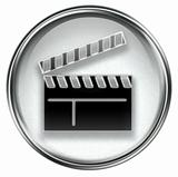 movie clapper board icon grey