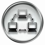 Network icon grey