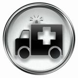 First aid icon grey
