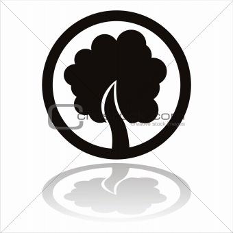black tree sign