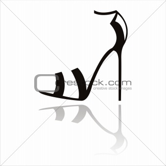 black shoes silhouette