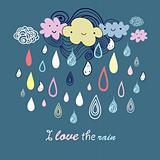 multicolored rain