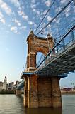 Historic suspension bridge.