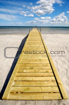 Bridge on beach
