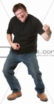 Man Plays a Guitar