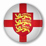 Badge with flag and the royal coat of england