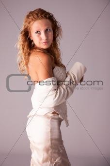 beautiful and elegant woman, studio shot