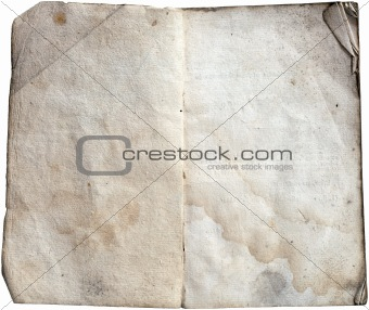 Old paper note book