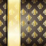 vector seamless damask wallpaper with place for your text