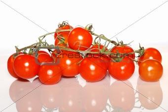 close up red tomatos