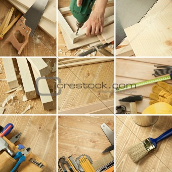Tools collage
