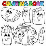 Coloring book school cartoons 1