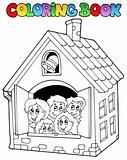 Coloring book school cartoons 4