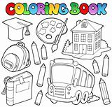 Coloring book school cartoons 9