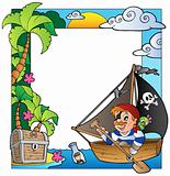 Frame with sea and pirate 5