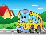 Road with school bus 2