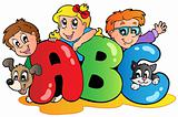 School theme with ABC letters