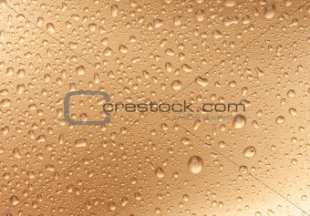 golden water drops from above